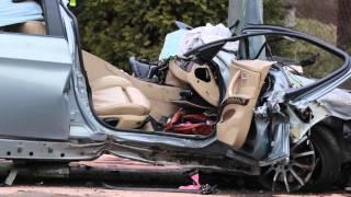 Wypadek w Krościenku Wyżnym BMW