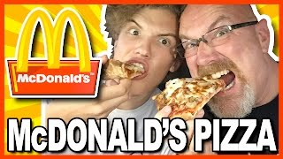 McDonald's PIZZA Review in Pomeroy, Ohio USA with Ken & Ben | KBDProductionsTV
