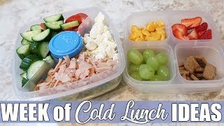 Easy Cold Lunch Ideas for Work or Back to School   August 2019