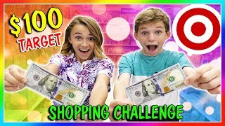 $100 SHOPPING CHALLENGE AT TARGET | What do the kids get? | We Are The Davises