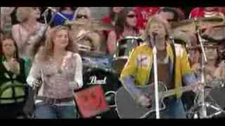 """Video thumbnail of """"Bon Jovi & Sugarland - Who says you can't go home (live)"""""""