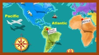 """""""Continents and Oceans"""" by ABCmouse.com"""