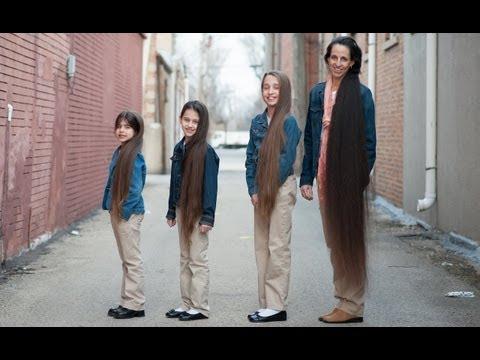 Ses cheveux mesurent 1 mètre 80, ses filles veulent lui ...