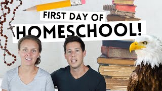 LIVING THE WAY Vlog // First Day of Homeschool!