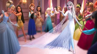 Elsa Frozen 2 VS Disney Princesses