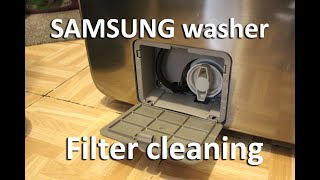 How to clean Samsung washer filter