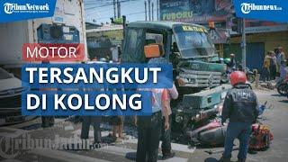 7 Motor dan 1 Mobil Tertabrak Truk Trailer yang Alami Rem Blong, Sejumlah Motor Tersangkut di Ban