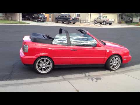 Vw Cabrio Gti Custom Car 18 inch Tenzor R racing wheels Candy Apple Red Neuspeed