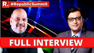 HM Amit Shah Speaks On 'One India - Firm Resolve' At Republic Summit With Arnab Goswami