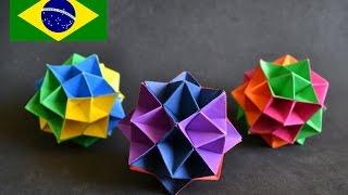 How to make an origami spike ball origami spike ball instrues em portugus pt br mightylinksfo