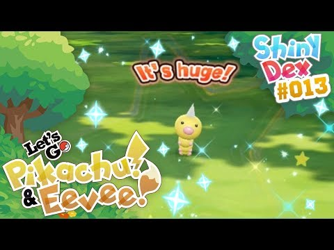 FIRST SHINY IN POKÉMON LET'S GO PIKACHU AND EEVEE! SHINY WEEDLE!