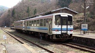 JR三江線最終列車編成 芸備~木次線経由で回送 (1-Apr-2018)