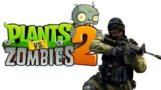 Plants vs Zombies 2 Counter Strike