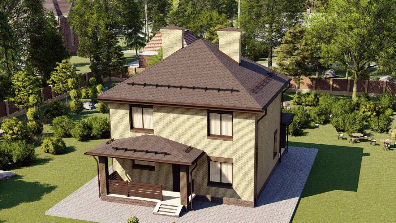Проект дома 2 этажа 8 на 9 из газобетона 108 м2.