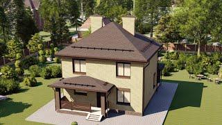 Проект дома 108-B, Площадь дома: 108 м2, Размер дома:  8,2x9,2 м