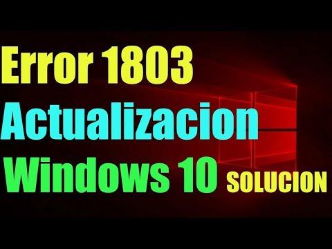 Error Actualización 1803 no se puede instalar en Windows 10 I SOLUCIÓN 2019