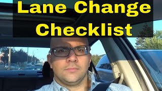 4 Things To Do Before Changing Lanes-Driving Lesson