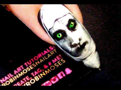 The Nun | Advanced Horror Film Nail Art that will scare all your friends