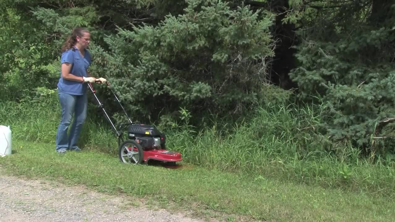 See the Fields Edge M200 String Mower with 173cc Viper in action