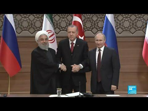 War in Syria: A symbolic handshake between Rouhani, Putin and Erdogan