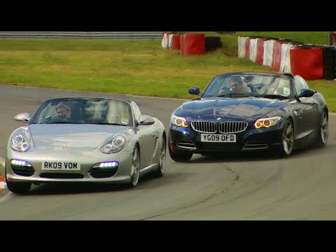 BMW Z4 vs. Porsche Boxster S - Fifth Gear
