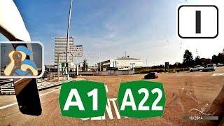 Italia. A1, A22. [ ✕ Modena - Verona ]