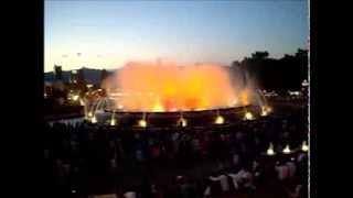 Поющий фонтан в Барселоне ( июнь 2013 год )