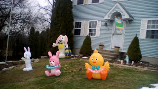 2017 easter inflatables display
