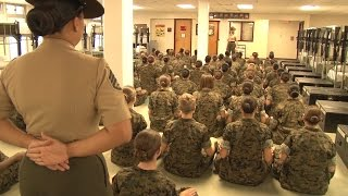 First Day Combat Training For Female US Marines | Forces TV