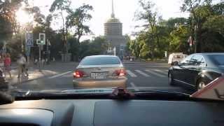 Сердце Санкт - Петербурга штурмует начинающий водитель.