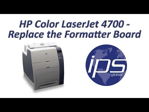 HP 4700 - Replace The Formatter Board Mp3