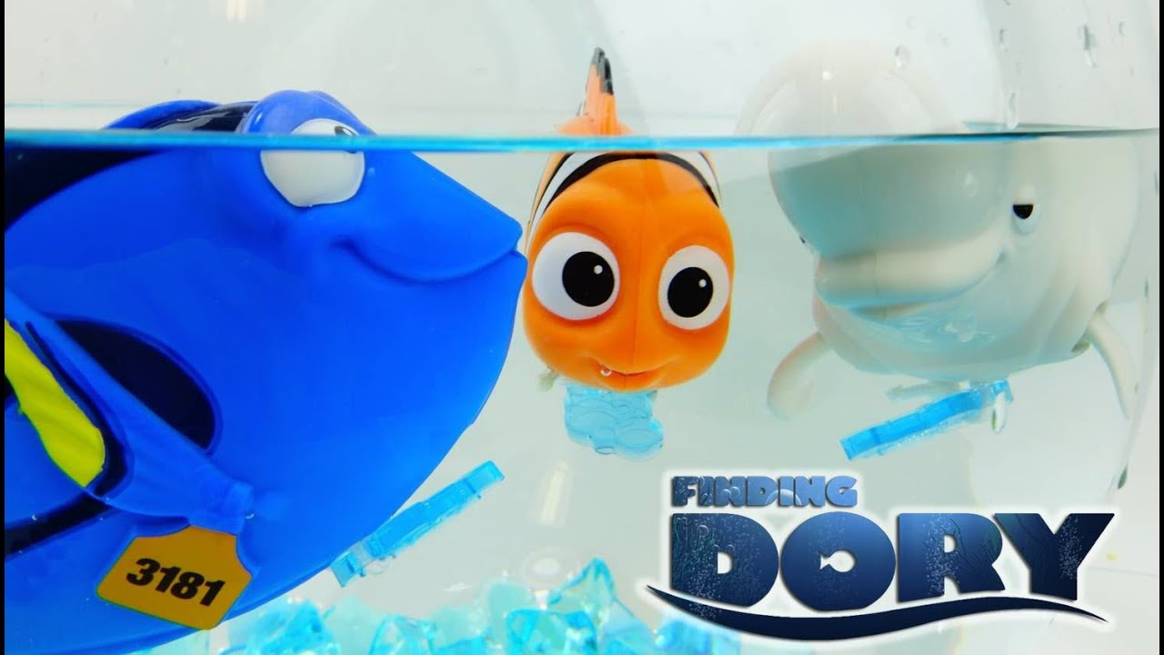 FINDING DORY Disney Movie Windup Bath Toys With  Dory, Bailey, Nemo