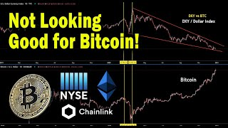 Bitcoin price dropping maybe crashing soon! NYSE, XRP ETH BTC LINK Price targets technical analysis