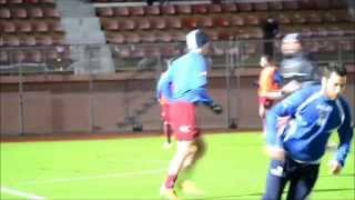 preview picture of video 'Au coeur d'Arles-Avignon | US Créteil - Arles-Avignon : Les joueurs à l'échauffement'