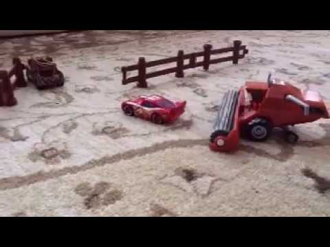 Tractor Tipping Flattened McQueen!