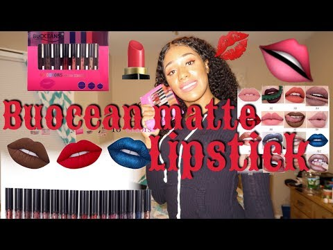 BUOCEAN LIPSTICK REVIEW 16 SHADES FOR $20