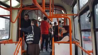 Haită De Zece țigani Cântă Manele și Scuipă Semințe în Tramvaiul 41  Crângași, București