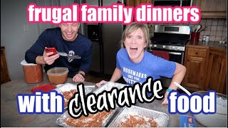 Large Family Dinners on a Budget | What's for Dinner | Clearance Food Cook with Me