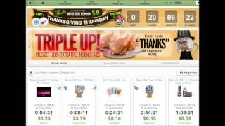 1200% Bonus Bids At Beezid With Limited Promo Code On Thanksgiving Wknd