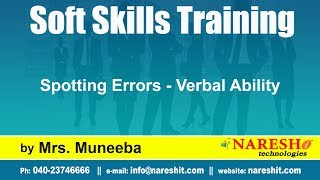 Spotting Errors - Verbal Ability   Soft Skills Training