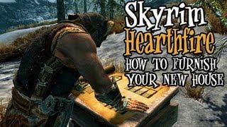 Skyrim Hearthfire - Tips & Tricks for Furnishing Your New House!!