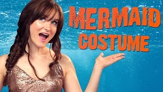 EASY DIY Mermaid Costume! 3 Items Or Less w/ Caroline Tucker