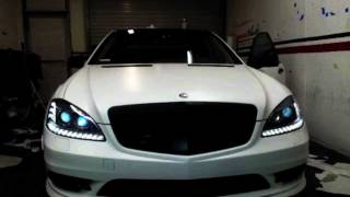 2012 Mercedes Benz S550 AMG Wrapped in Satin White by DBX