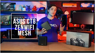 Unboxing ASUS CT8 AC3000 ZenWiFi AC Tri Band Mesh WiFi Gigabit System