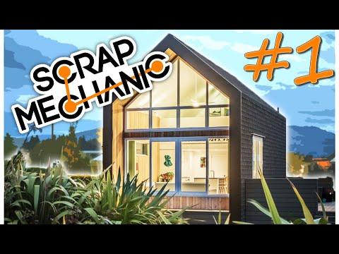 Survival Tiny Modern House Concept  LET'S BUILD 1 SCRAP MECHANIC FR