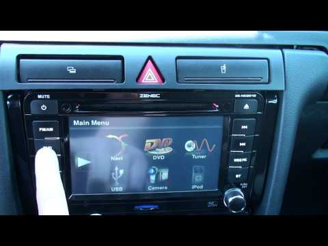 Zenec ZE-NC2010 in Audi A6 Combi 4B eingebaut ( HD )
