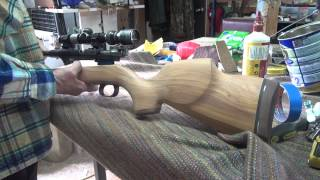 Home made rifle stock, using a chainsaw. Part 4 of 4