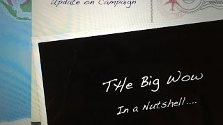 The Big Wow in a Nutshell. A Update on the Campaign Trail