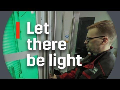 FMS load-unload area lights and info screens improve usability and ergonomics