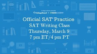 Join our live SAT writing class